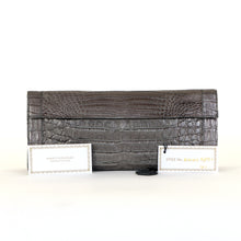 Load image into Gallery viewer, Puta Metallic Croc Clutch