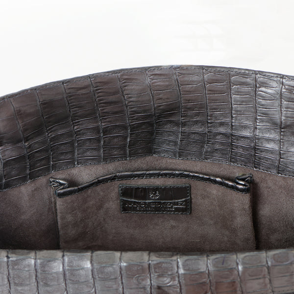 Puta Metallic Croc Clutch