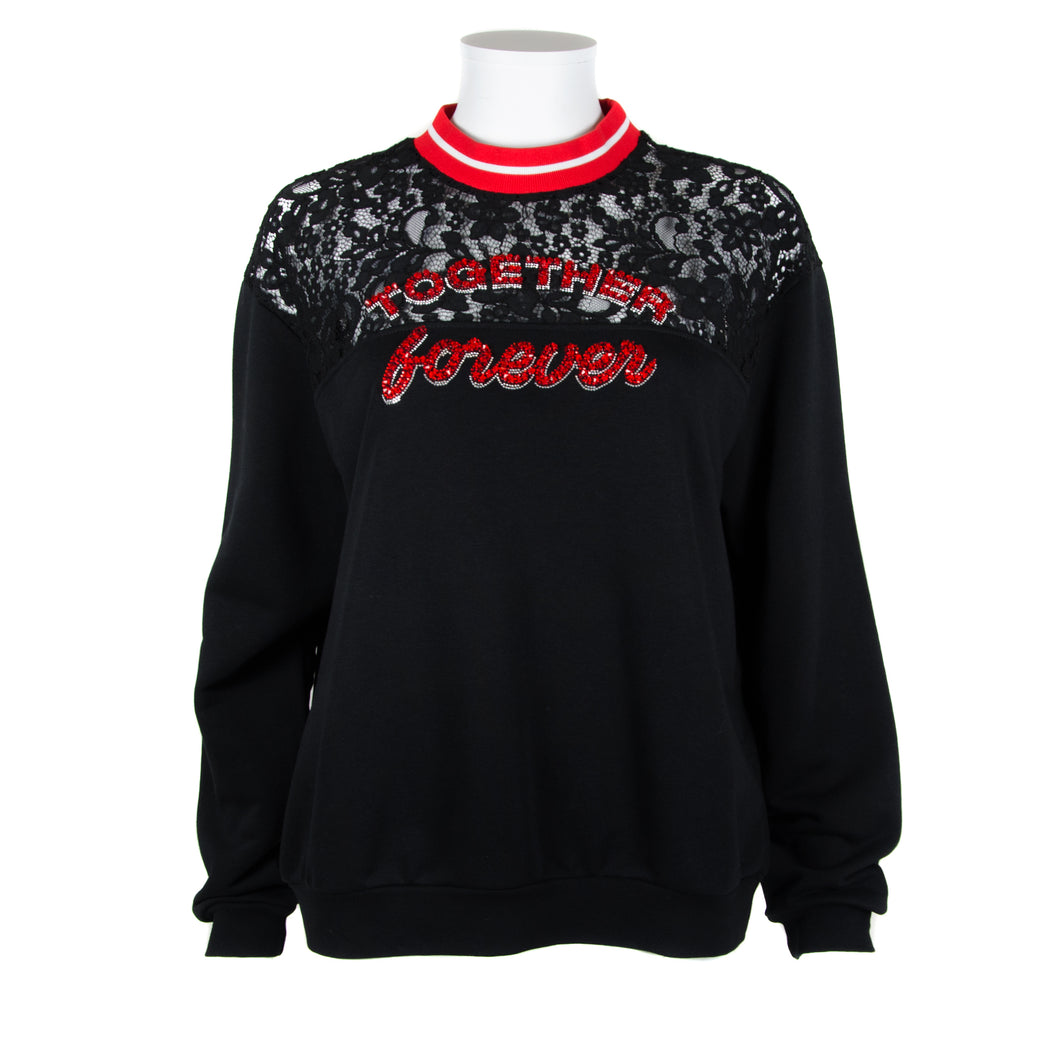 Uniqueness Lace Insert Sweatshirt