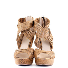 Load image into Gallery viewer, Nude Python Sandals 38.5