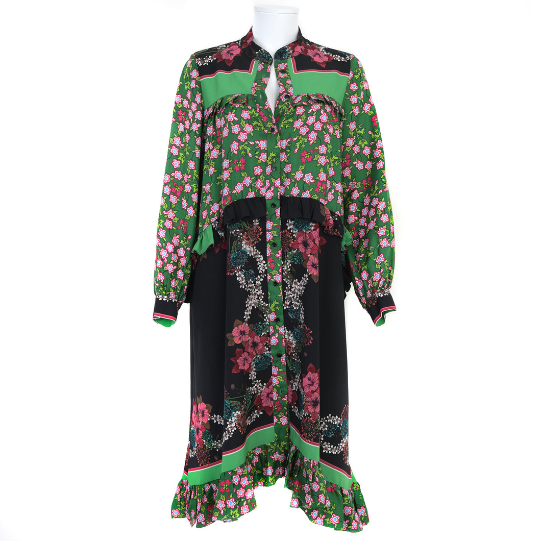 Silk Floral Print Dress UK12