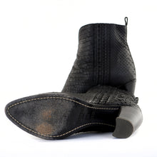 Load image into Gallery viewer, Python Ankle Western Boots 38.5