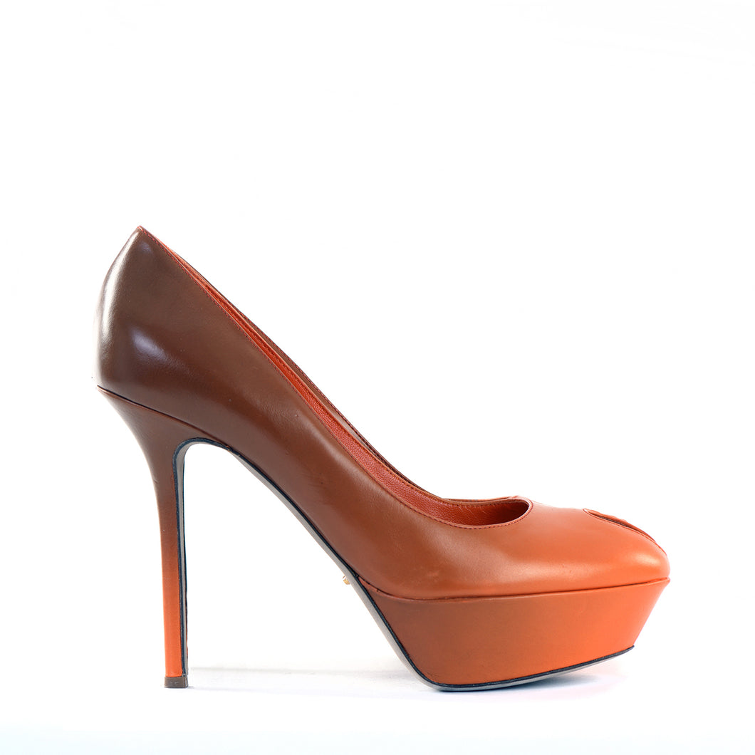 Orange ombre platfrom shoes 39