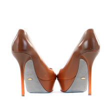 Load image into Gallery viewer, Orange ombre platfrom shoes 39