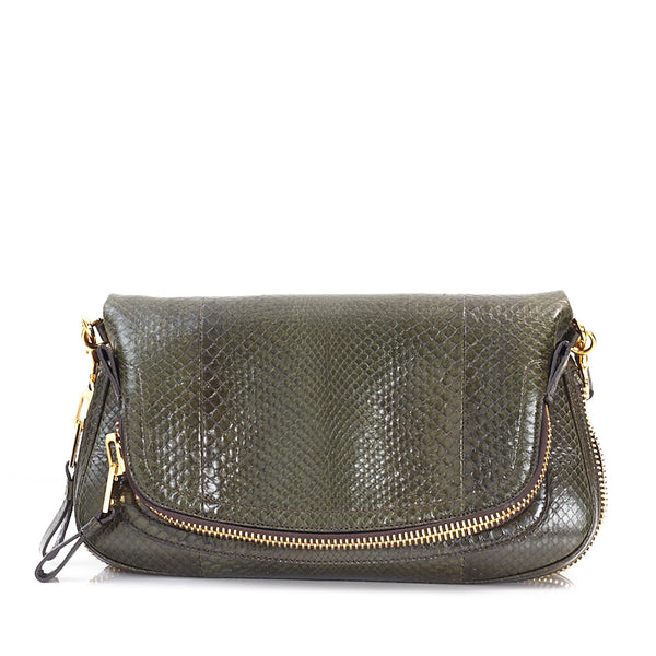 Jennifer Medium Python Flap Bag