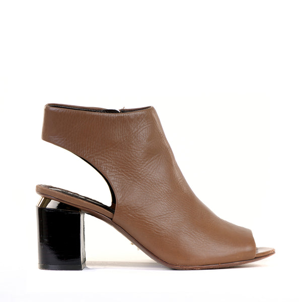 Tan Peep Toe Shoe Boots EU39