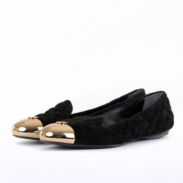 Kaitlin Smoking Slippers With Gold Toe Cap 39.5