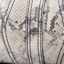 Load image into Gallery viewer, Silver Metallic Python Bag