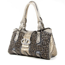 Load image into Gallery viewer, Python Embellished Top Handle Bag