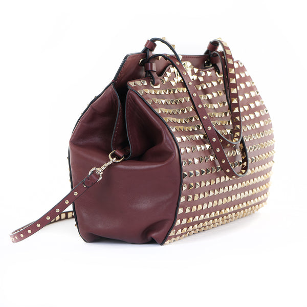 Vitello Leather All Over Rockstud Tote