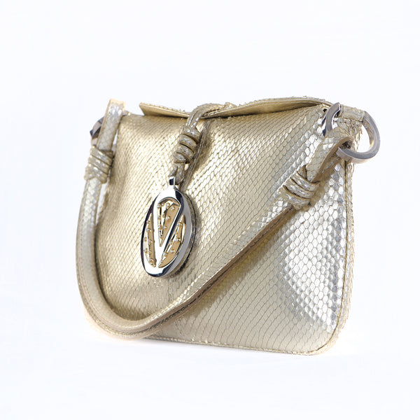 Metallic Diamond Charm Bag