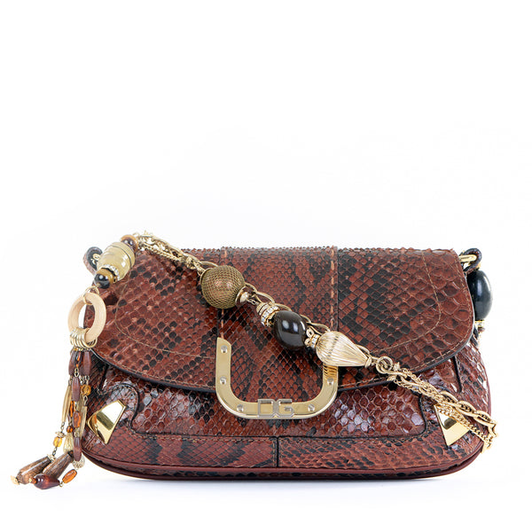 Rare Python Charm Shoulder Bag