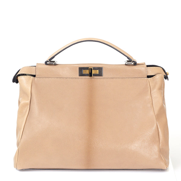 Peekaboo Top Handle Tote Bag