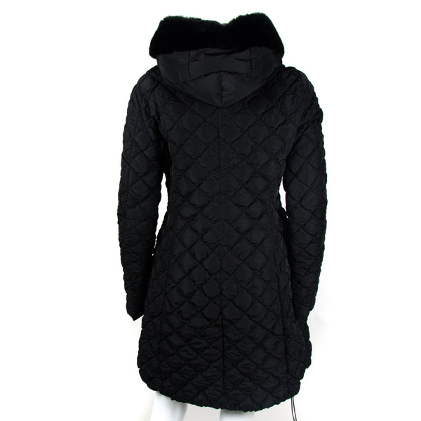 Mid Length Down Quilted Coat UK12