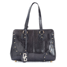 Load image into Gallery viewer, Black Python Leather Shoulder Bag