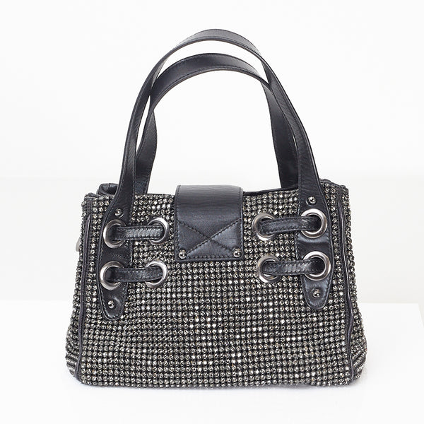 Black Diamante Mini Bag