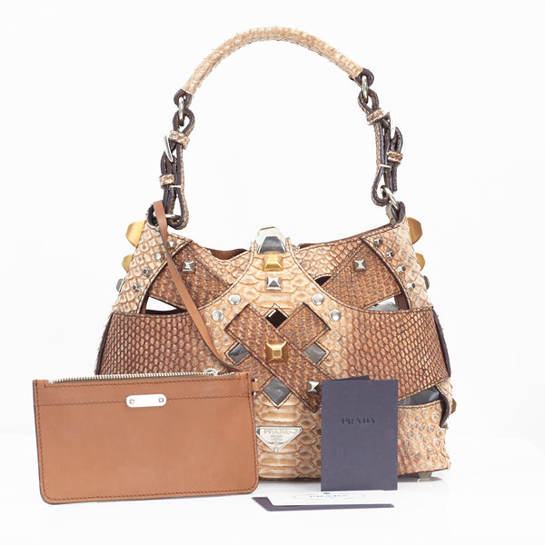 Python Cut Out Mini Bag