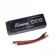New Gens Ace Black 5000mAh 7.4V 50C 2S1P, 25.1x47.5x138.18mm, 294g, 5.0mm Plug (EFRA, BRC & ROAR approved)