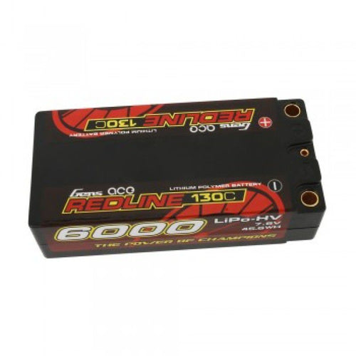 Gens Ace redline 6000mah 7.6v 130c shorty lipo battery