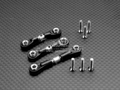 GPM Racing - TAMIYA - TT01 - TT048 Alloy Steering Assembly With Shims+Collars+Screws and GPM Racing - TAMIYA - TT01 - TT160 Alloy Completed Tie Rod With Screws