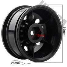 Load image into Gallery viewer, Crawler wheels with 6MM offset. Black