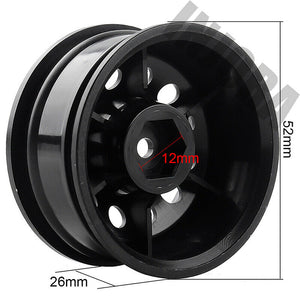 Crawler wheels with 6MM offset. Black