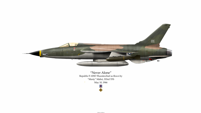 Artifact of history:  Marty Mahrt's F-105D he was flying when shot down over North Vietnam.