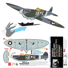 Load image into Gallery viewer, FREE - Spitfire Cut-Out PlaneCard™