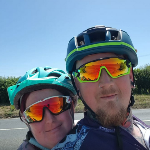 cycling glasses couple