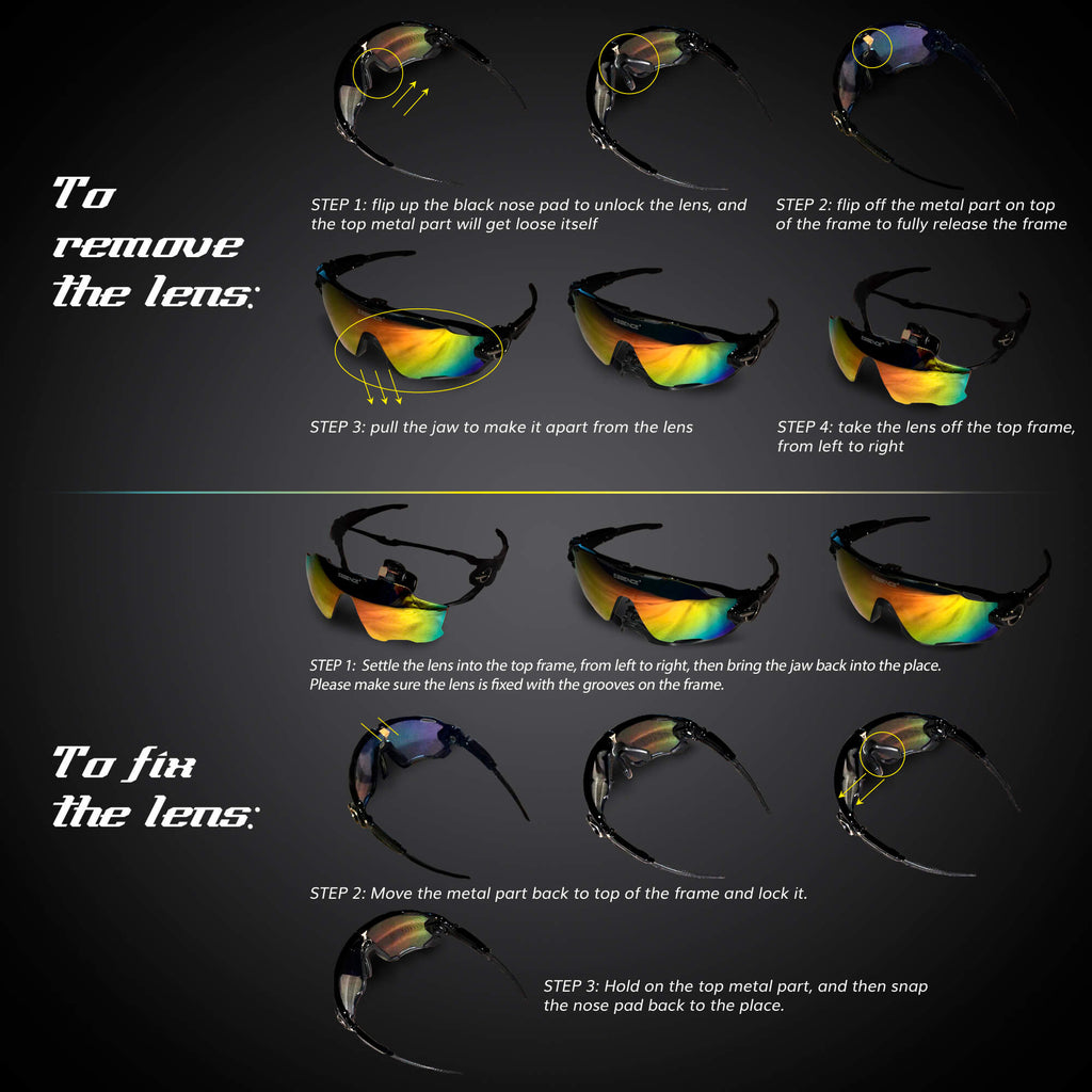 sunglasses with extra lenses