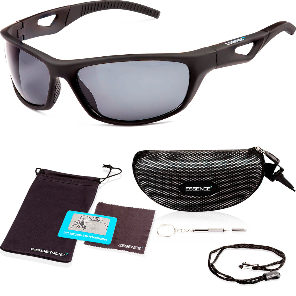 black polarized sports sunglasses for men and women also cycling sunglasses