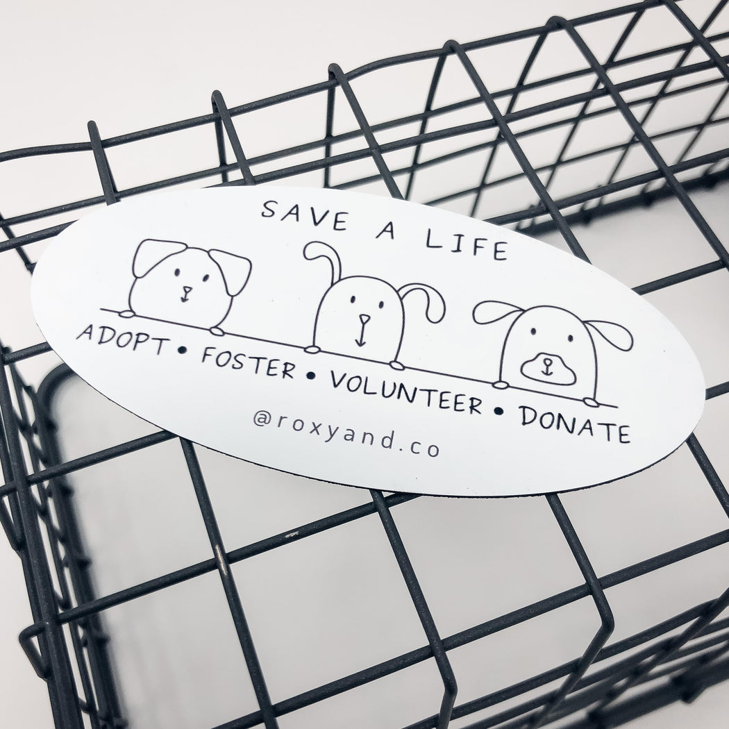 'SAVE A LIFE' Magnet- Benefiting Catering to Cats & Dogs Animal Rescue