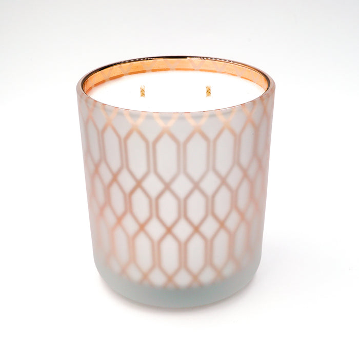 Karma Candle Makers Green Clover & Aloe Luxury Frosted Copper link soy candle
