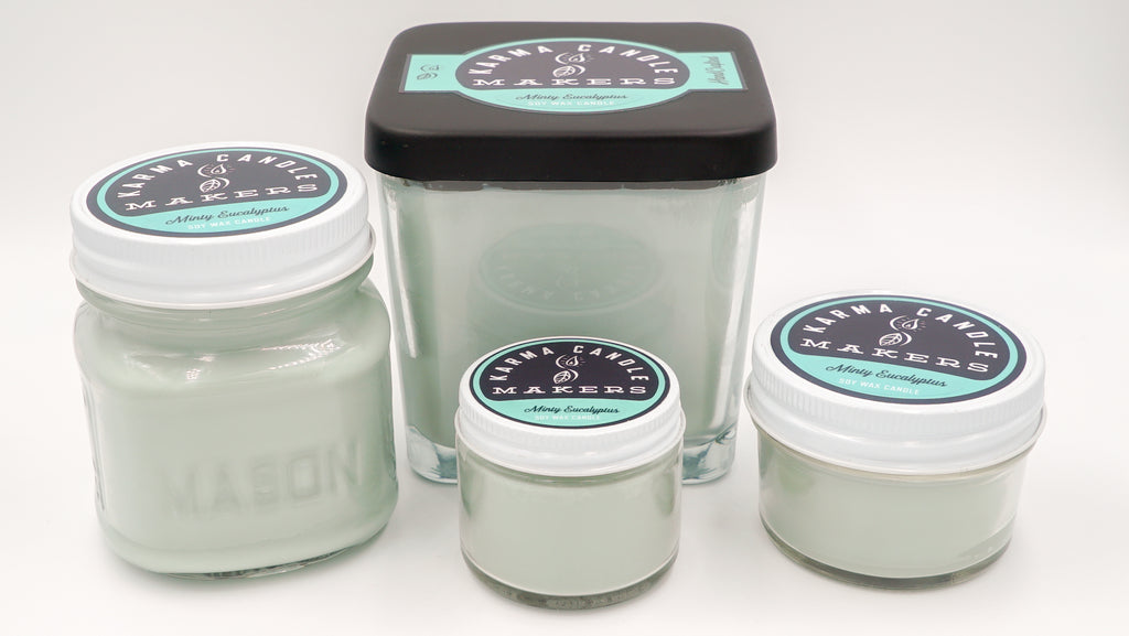 Minty Eucalyptus Soy Candles