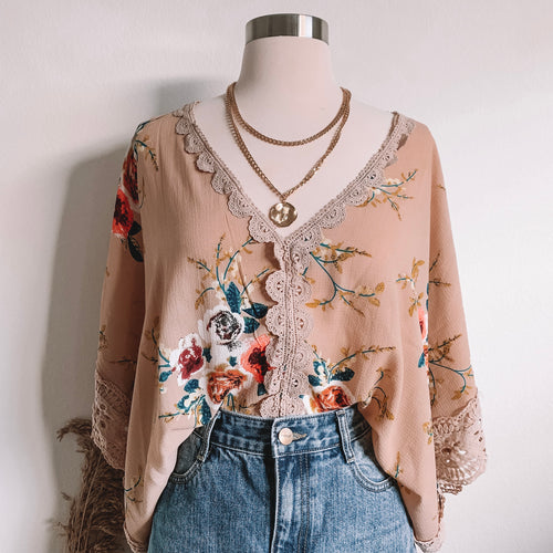 Dreaming of You Floral Kimono Top