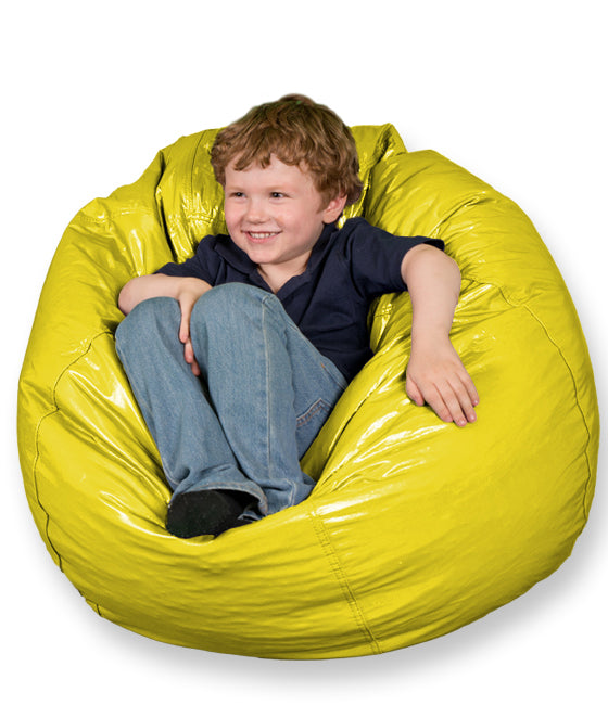 Small Wet Look Vinyl Bean Bag Chairs