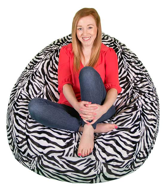 Large Faux Fur Bean Bag Chairs