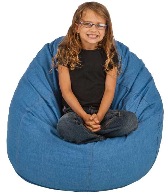 Small Denim Bean Bag Chairs