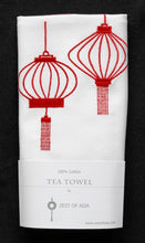 Load image into Gallery viewer, Tea towel with Red Lanterns