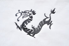Load image into Gallery viewer, Tea towel with Grey Dragon