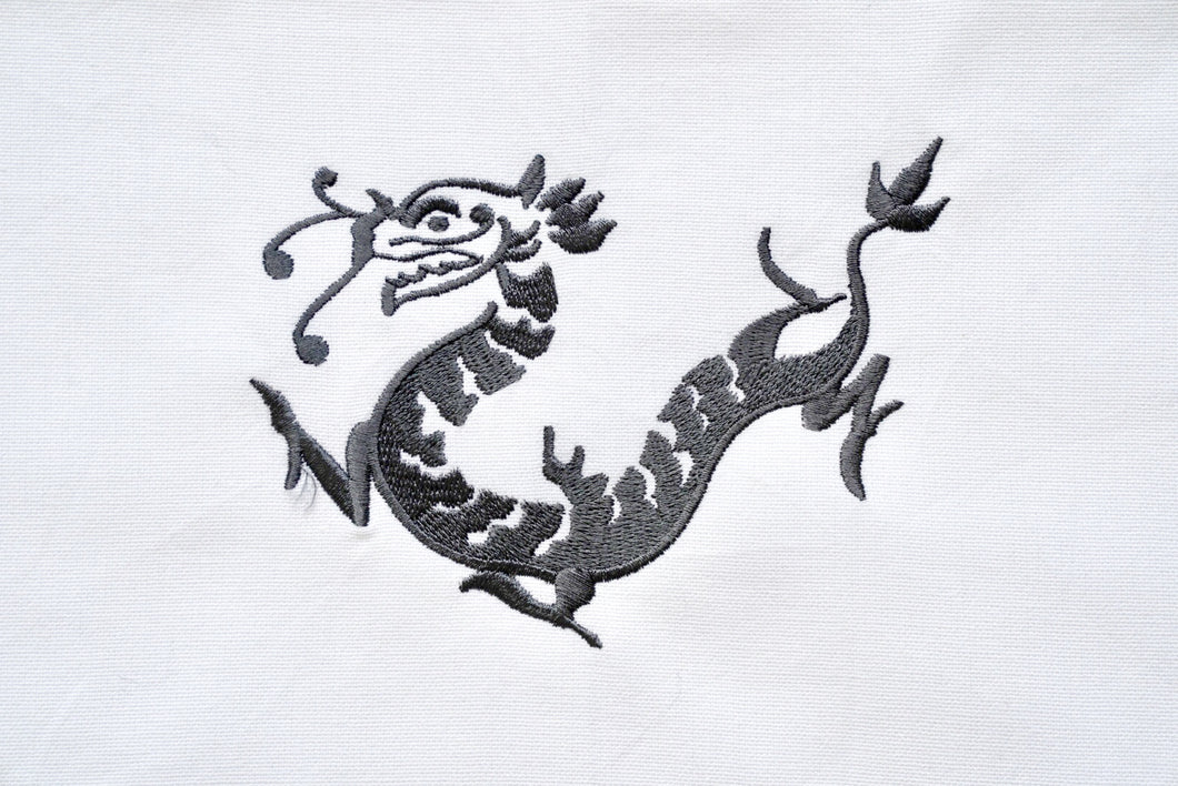 Tea towel with Grey Dragon