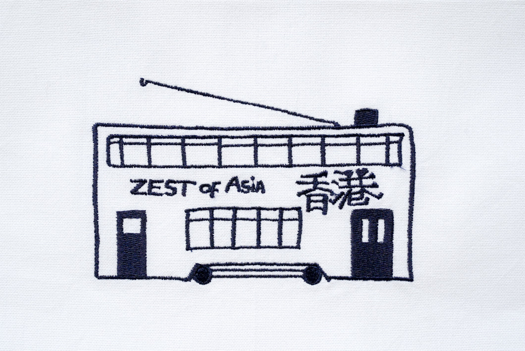 Tea towel with Blue Tram