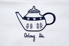 Load image into Gallery viewer, Tea towel with Blue Teapot