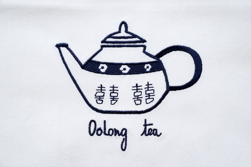 Tea towel with Blue Teapot