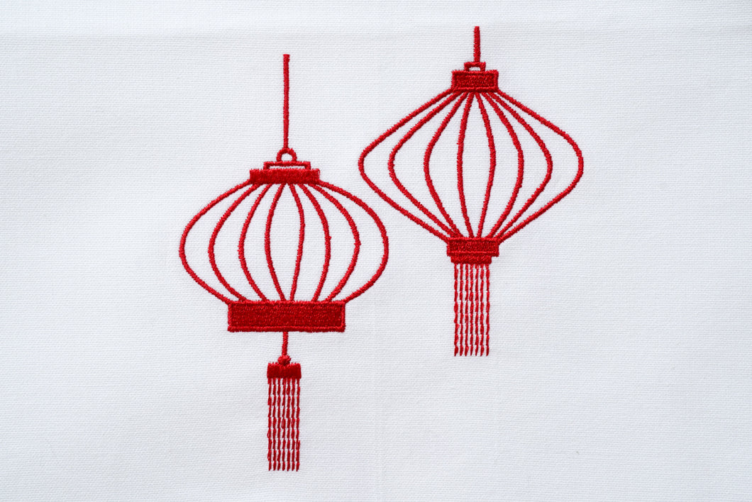Tea towel with Red Lanterns