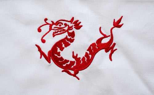 Tea towel with Red Dragon