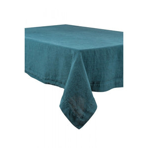 Linen Tablecloth 170x250cm Blue