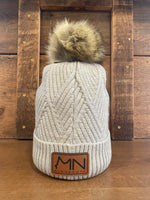 C.C. beanie with MN leather patch