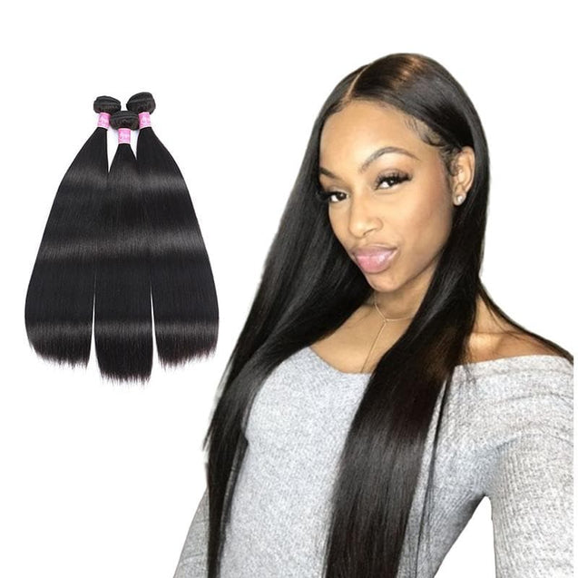 Affordable Angie Queen 3 Bundles Brazilian Silky Straight Virgin Human Hair Weave Bundles on Sales, No Shedding, No Tangle, Unprocessed Raw Cuticle Aligned Virgin Hair, Free Shipping, 2-4 Days Arrival. 7 Days No Reason Return.