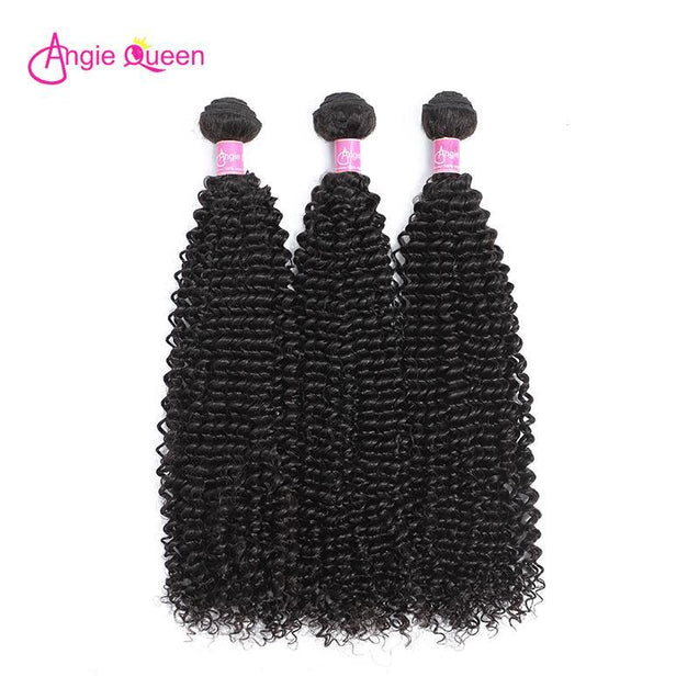 Angie Queen 4 Bundles Indian Curly Virgin Human Hair Weave Bundles
